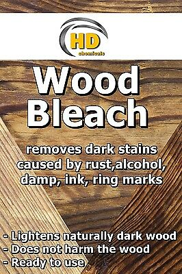 500ml Wood Bleach - removes dark stains & marks from wood furniture oak FREE P&P