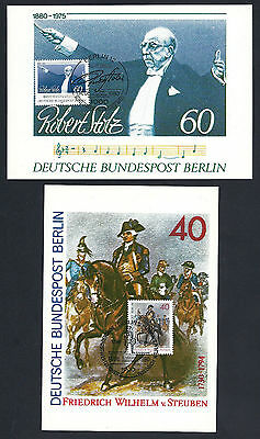 Berlin - Maximumkarten Michel-Nr. 627+628