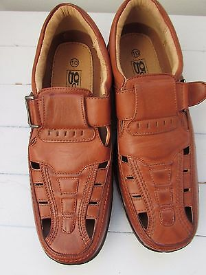 Gordini - Brown Retro Style Sandals / Shoes - Size UK 10 (Euro 43)