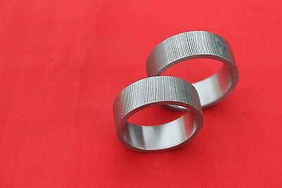 Size:-11.5,13.5 A Very Beautiful Quality Hand-Made Damascus Steel Finger Ring