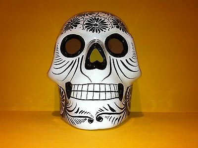 Mexican Folk Art Ceramic Sugar Skull Day of the Dead