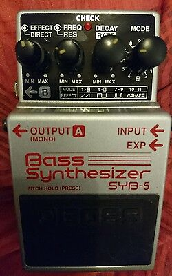 Boss SYB5 Bass Synthesizer effects pedal filter synth
