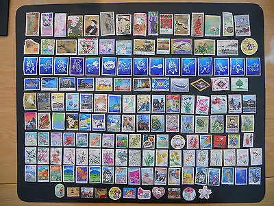 Japan stamps. 150 different pictorials used off paper includes prefectures. 158