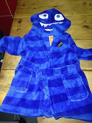 Bluezoo Baby Boys Dressing Gown 18-24 Months Bnwt