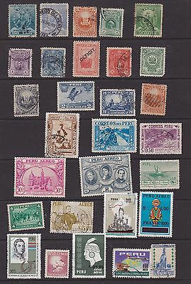 mix of 30 nice stamps from Peru, mainly early issues