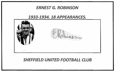 Ernest G. Robinson (Sheffield Utd) Signed card