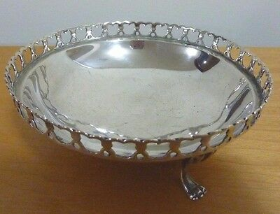 Vintage Small Reticulated 800 Silver Footed Bowl - Hallmarked 86 GRAMS