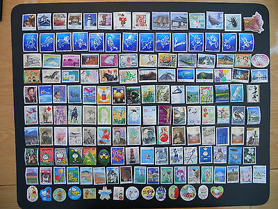 Japan stamps. 150 different pictorials used off paper includes prefectures. 163