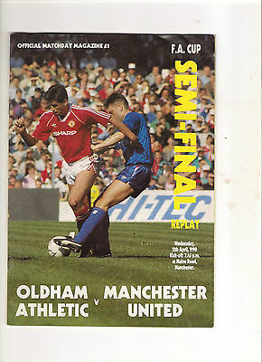 1990  FA Cup Semi Final Replay--------Oldham v Manchester United