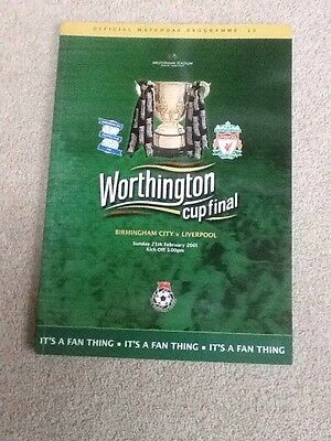 Birmingham City V Liverpool Worthington Cup Final Programme And Ticket