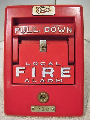 Vintage Couch manual break glass fire alarm station
