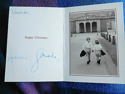 Prince Andrew and Sarah, Duke and Duchess of York – fab signed Christmas Card