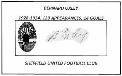 Bernard Oxley (Sheffield Utd) Signed card