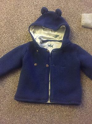 Baby Boys M&S Cardy 6-9 Months