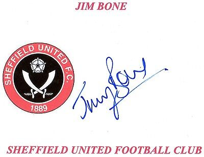 Jim Bone (Sheffield Utd) Signed card
