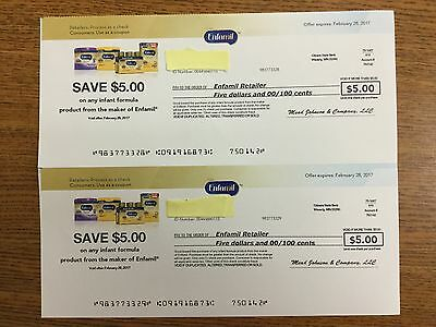 Two $5 Enfamil coupons / Exp 2/28/17