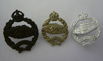 Collection Of 3 Royal Tank Regiment Collar Badges