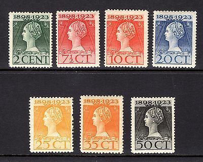 NETHERLANDS 1923 FINE MINT SET TO 50cents 25th ANNIV OF QUEENS ACCESSION NOT CAT