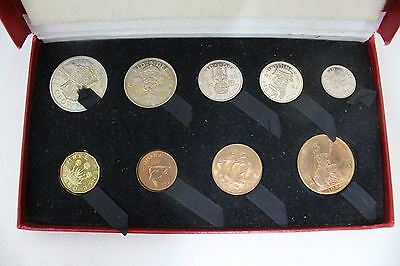 ROYAL MINT Vintage 1950 Halfcrown To Farthing Boxed Proof Set With Rare Penny