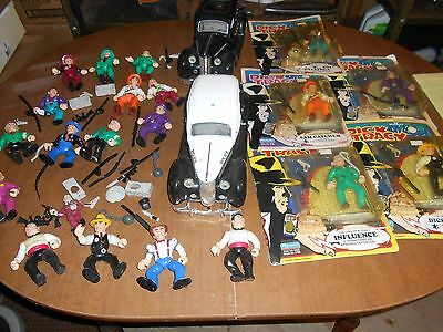 Vintage Dick Tracy Action Figure / Cars Lot