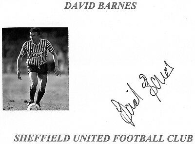 David Barnes (Sheffield Utd) Signed card