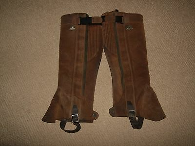 Mountain Horse brown suede chaps size Large
