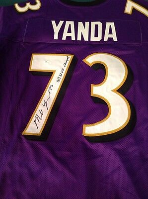 Marshall Yanda Baltimore Ravens Style Autographed Jersey JSA Authenticated