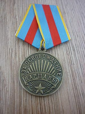 Ww2 Soviet Russia -  'Liberation Of Warsaw' Medal (1945)