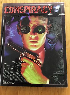 Conspiracy X book and Game Master's Screen book for role playing game NME 1996