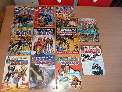 UK Marvel comics - Spider-man and Zoids - issues 27 to 38