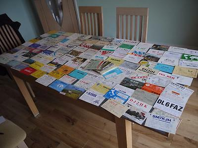 HUGE COLLECTION 220 AMATEUR OLD RADIO HAM  QSL CARDS EUROPE INC Scandinavia