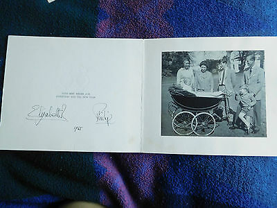1965 Christmas card from The Queen and Prince Philip