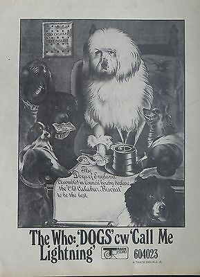 "The Who ""Dogs"" c/w ""Call Me Lightning"" full-page ad UK 1968 + Bonus"