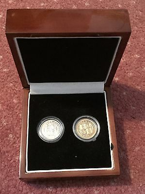 A Couple Of Withdrawn Type 1887 Sixpences One Gold Plated