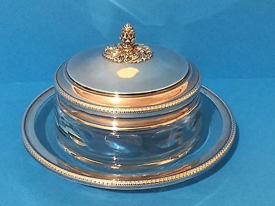 French Silver 950 Covered Dish c1890- Caviar, Butter, Jam. Hummus, Jewellery