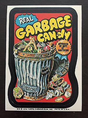 """Wacky Packages 16th Series 1976 """"Real Garbage Candy"""" NM"""