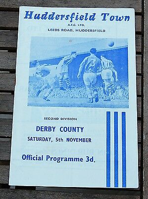 Huddersfield Town v Derby County 1960/61 Football Programme