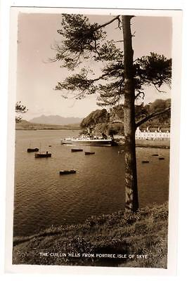 VINTAGE RP POSTCARD,THE CUILLIN HILLS FROM PORTREE,ISLE OF SKYE,c1960