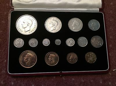 The 1937 Uk Specimen Proof Coin Set Great Condition