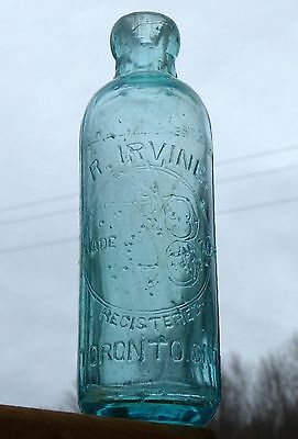 Antique Toronto, Ontario Hutchinson soda bottle 'R. IRVINE' BIMAL FREE SHIPPING!