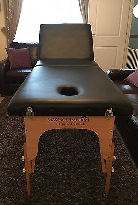 Massage Imperial Lightweight Professional Black 3-Section Portable Bed Inc Accs