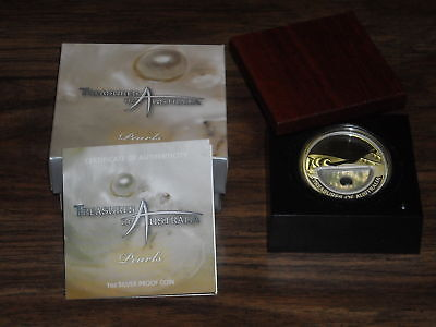 Treasures Of Australia - Pearls 1Oz Silver Proof Locket