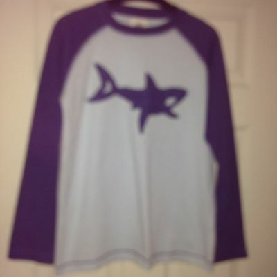 Boden Boys Long Sleeve T-shirt With Shark Detail. Age 11-12
