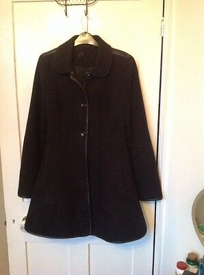 Topshop Black Coat 12 Up cycled, Single Breasted