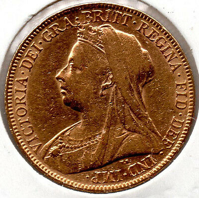 1900 Full Gold Sovereign Queen Victoria  Minted in London PRICED TO SELL