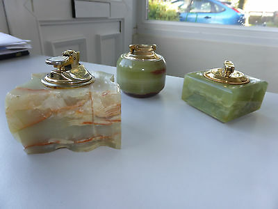 Vintage Calibri Marble Lighters X 3