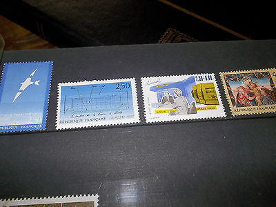 4 timbres France neuf 1992