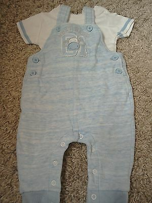 Next baby boy dungarees and vest 3-6 months