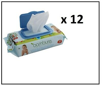 Baby Wipes - Bulk Nappy 12 packs of 80 wipes Bambeco/Bambure Natural Wipes