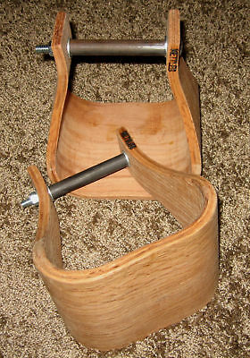 "Stirrups saddle wood new wooden 5"" blanks leather work Nettles western roping"